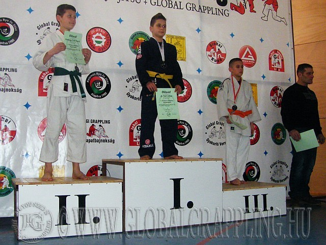 Gi Grappling Ifjúsági Fiú 41 kg. kategória dobogója