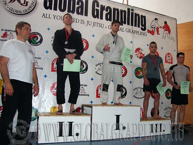 Gi Grappling Felnőtt Férfi 75 kg. kategória dobogója