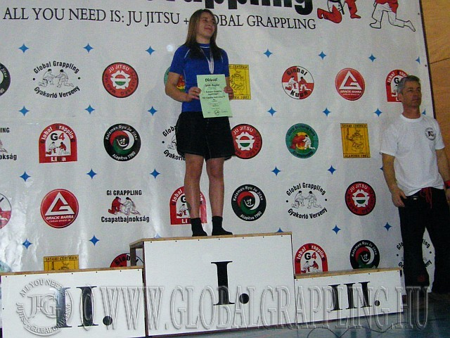NoGi Grappling Kadet Leány 50 kg. kategória dobogója