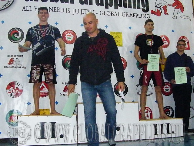 NoGi Grappling Kadet Fiú 79 kg. kategória dobogója