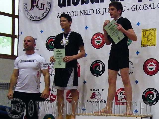 NoGi Grappling Junior Fiú 66 kg. dobogója