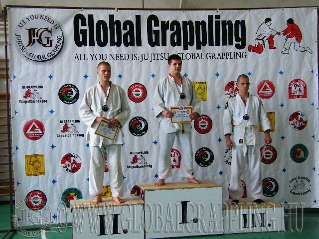 Gi Grappling Junior Fiú 79 kg. dobogója