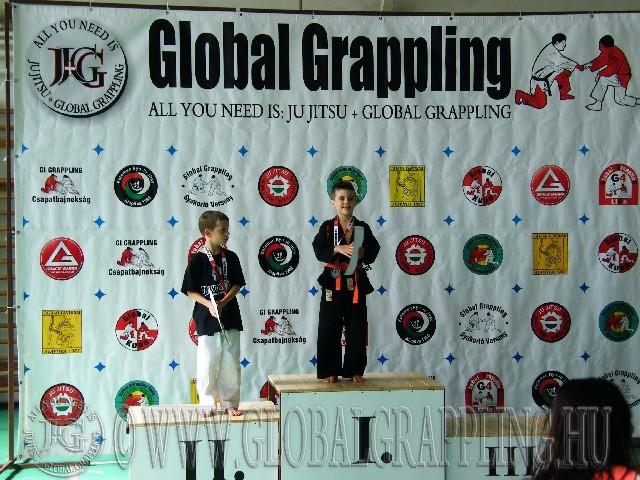 NoGi Grappling Manó Fiú 28 kg. dobogója