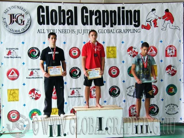 NoGi Grappling Junior Fiú 79 kg. dobogója