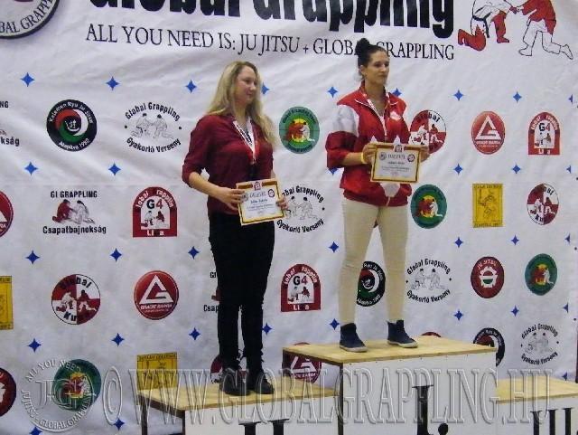 A NoGi Grappling Junior Leány 60  kg. kategória dobogója