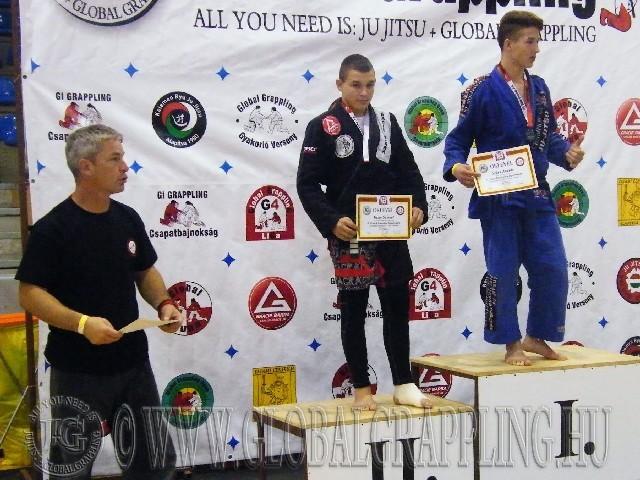 A Gi Grappling Ifjúsági2 Fiú 73 kg. kategória dobogója