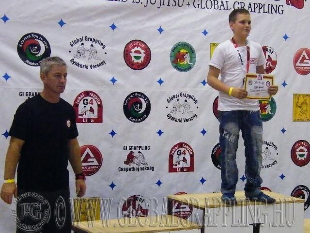 A NoGi Grappling Ifjúsági1 Fiú 59 kg. kategória dobogója