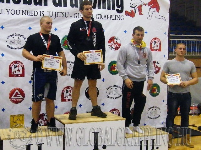 A NoGi Grappling Felnőtt Férfi 95 kg. kategória dobogója