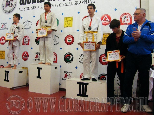 A Gi Grappling Ifjúsági1 Fiú 59 kg. kategória dobogója