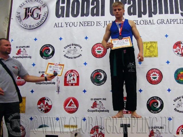 A NoGi Grappling Ifjúsági2 80 kg kg. kategória dobogója