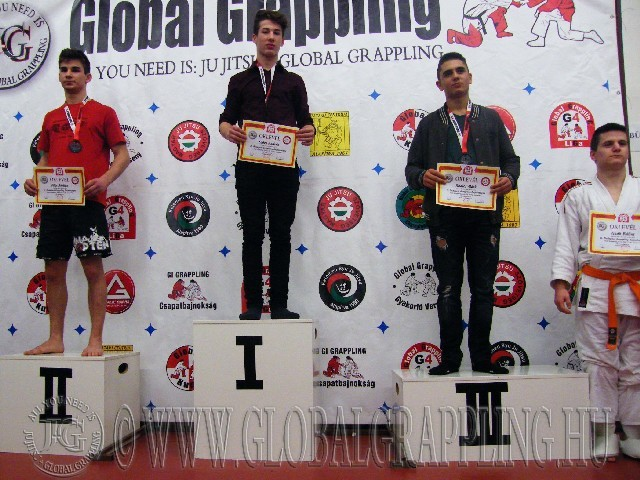 A NoGi Grappling Junior Fiú 71 kg. kategória dobogója