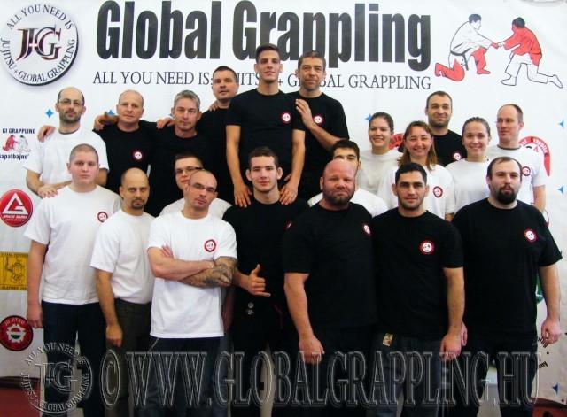 A II. Budapest  Grappling Bajnokság bírái és a segítők egy része