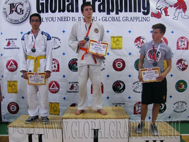 A Gi Grappling Ifjúsági2 Fiú 66 kg. kategória dobogója