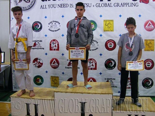 A Gi Grappling Ifjúsági1 Fiú 47 kg. kategória dobogója