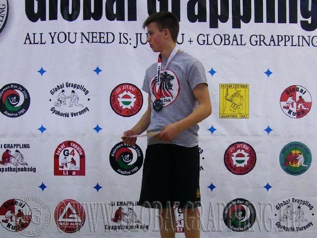 A NoGi Grappling Ifjúsági2 Fiú 59 kg. kategória dobogója