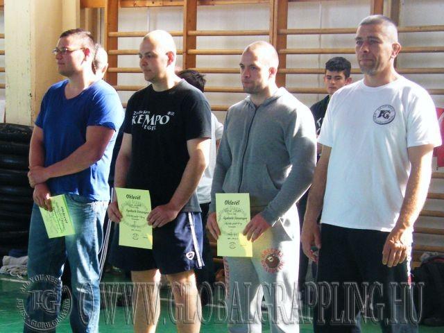 Balról jobbra: Rutterschmid Rajmund, Majoros László, Fekete Dániel