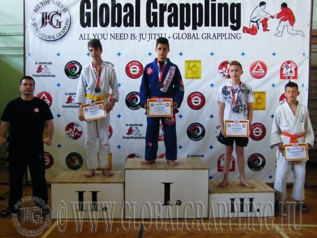 Gi Grappling Ifjúsági 1 Fiú 53 kg. dobogója