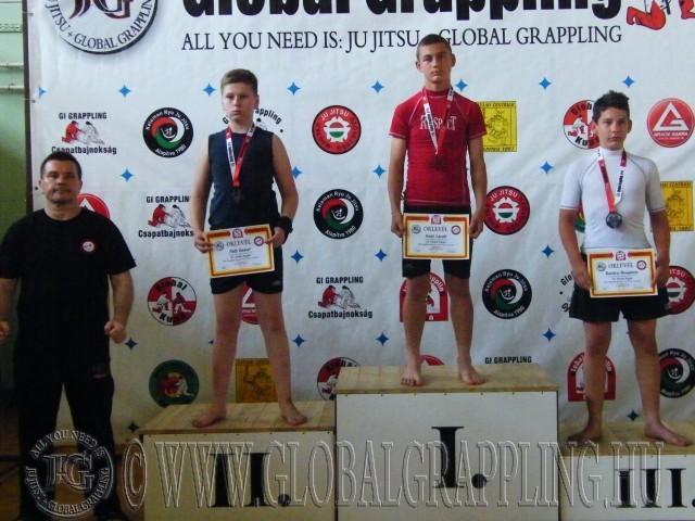 NoGi Grappling Ifjúsági 1 Fiú 59 kg. dobogója