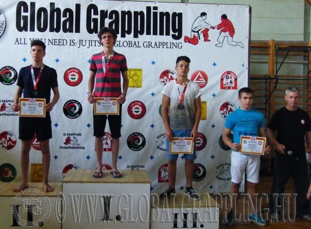 NoGi Grappling Ifjúsági 2 Fiú 66 kg. dobogója
