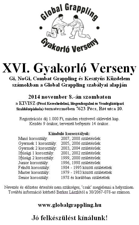 A XVI. Gyakorló Verseny plakátja