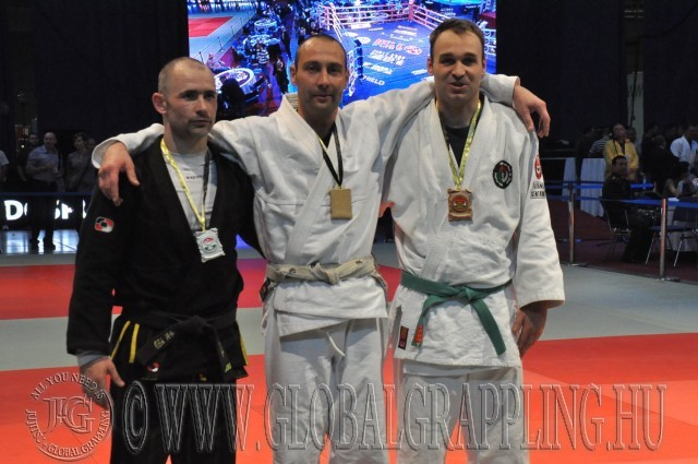 A Combat Grappling Férfi 85 kg kategória első három helyezettje