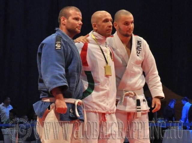 A Gi Grappling Férfi 90 kg kategória első három helyezettje