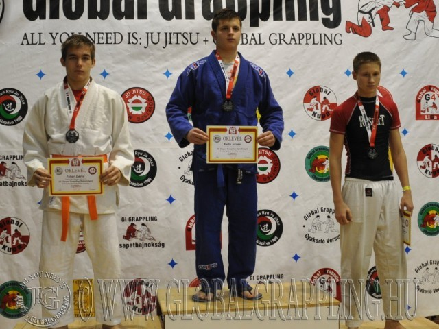 A Gi Grappling Junior Fiú 70 kg. kategória dobogója