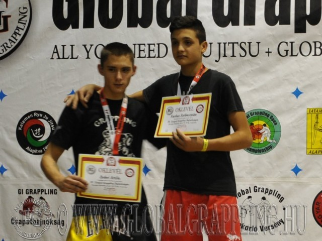 A Kesztyűs Küzdelem Junior Fiú 70 kg. kategória dobogója