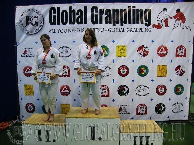 A Gi Grappling Junior Leány 75 kg. kategória dobogója