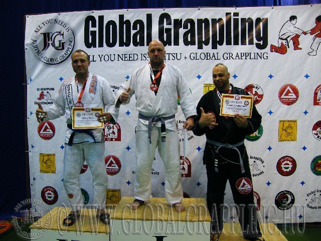 A Gi Grappling Felnőtt Senior 1 105+ kg. kategória dobogója