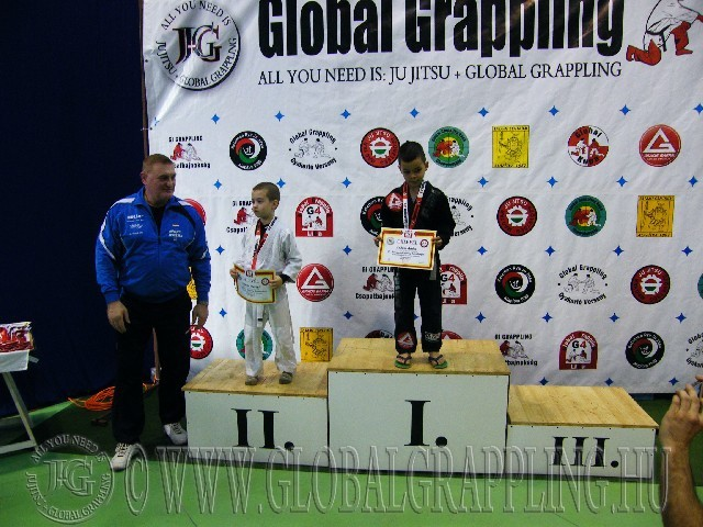 A Gi Grappling Manó Fiú 21 kg. kategória dobogója