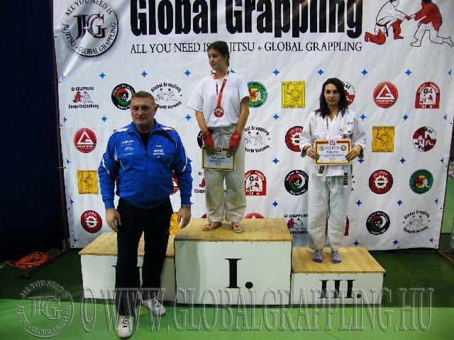A Gi Grappling Junior Leány 65 kg. kategória dobogója