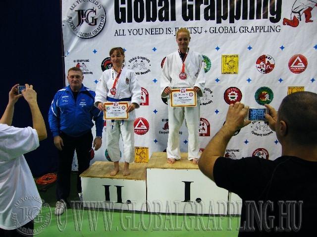A Gi Grappling Master Női 60 kg. kategória dobogója