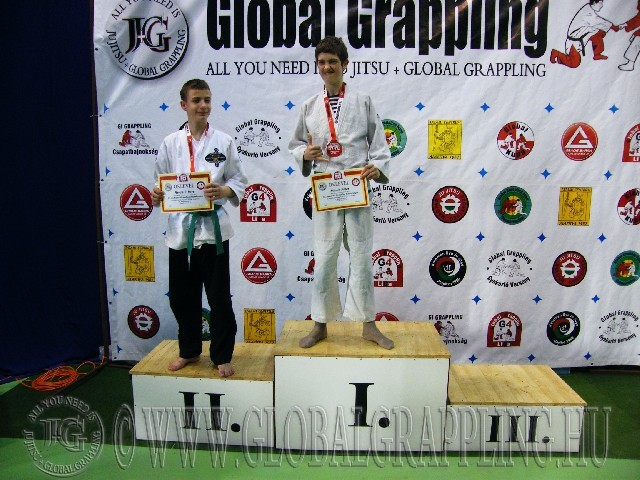 A Gi Grappling Ifjúsági 1 Fiú 55 kg. kategória dobogója