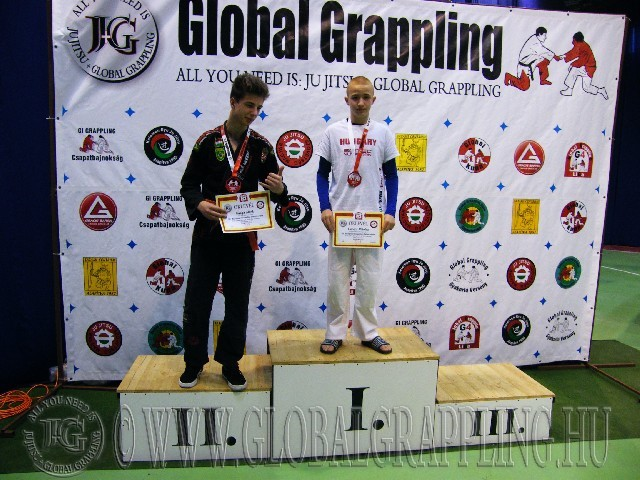 A Gi Grappling Ifjúsági 2 Fiú 55 kg. kategória dobogója