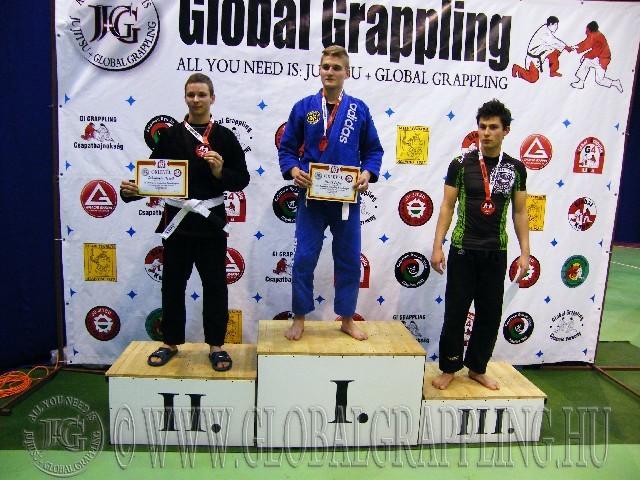 A Gi Grappling Junior Fiú 75 kg. kategória dobogója