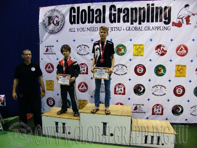 A NoGi Grappling Ifjúsági 1 Fiú 45 kg. kategória dobogója