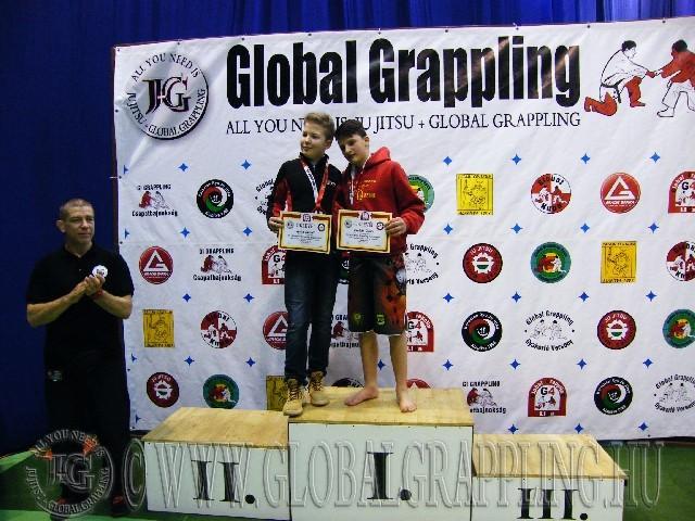 A NoGi Grappling Ifjúsági 1 Fiú 60 kg. kategória dobogója