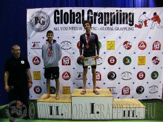 A NoGi Grappling Junior Fiú 65 kg. kategória dobogója