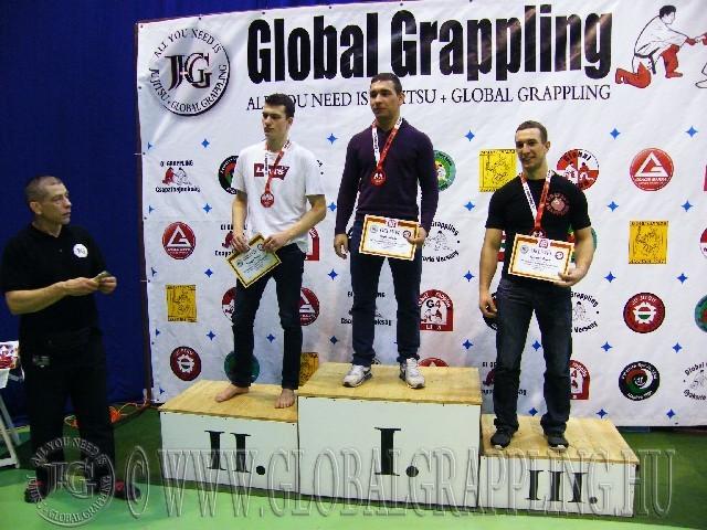 A NoGi Grappling Felnőtt Férfi 80 kg. kategória dobogója