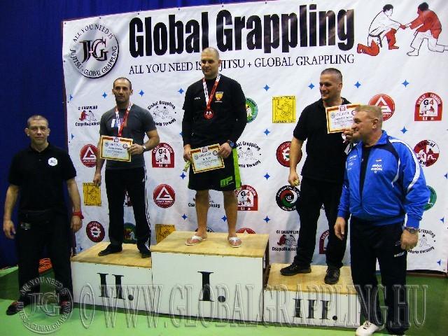 A NoGi Grappling Master Férfi 95 kg. kategória dobogója