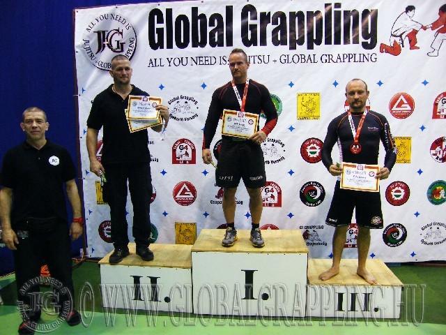 A NoGi Grappling Senior 1 Férfi 80 kg. kategória dobogója