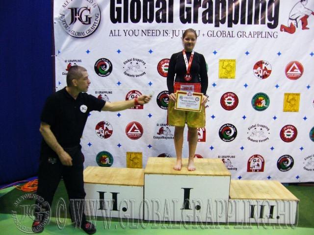 A Kesztyűs Küzdelem Junior Leány 65 kg. kategória dobogója