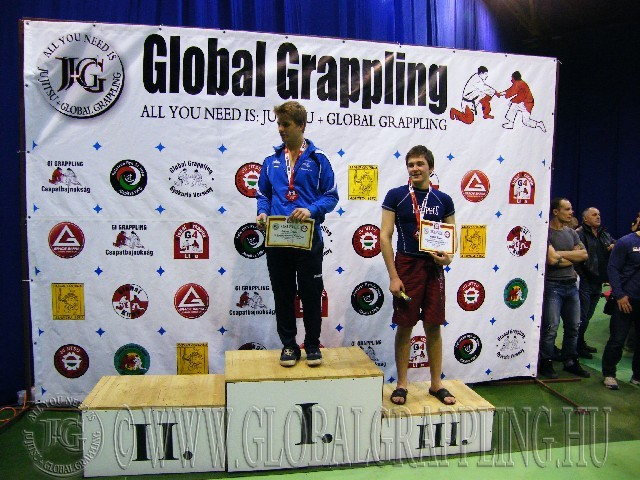 A NoGi Grappling Junior Fiú 70 kg. kategória dobogója