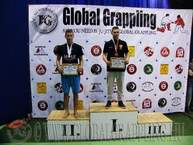 A NoGi Grappling Ifjúsági 2 Fiú 75 kg. kategória dobogója