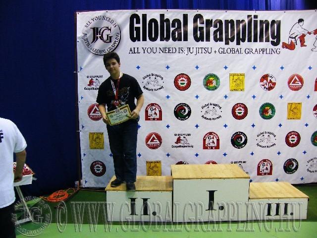A NoGi Grappling Junior Fiú 95+ kg. kategória dobogója