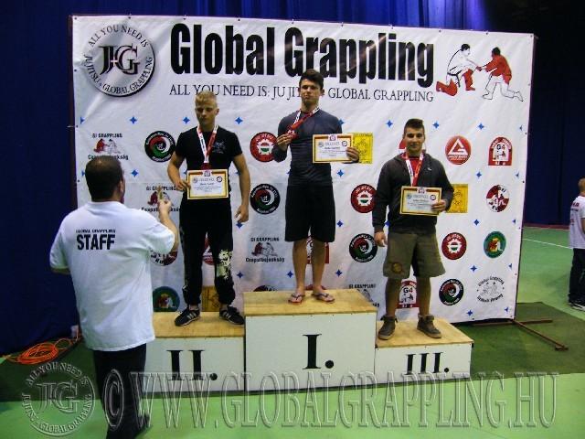 A NoGi Grappling Junior Fiú 85 kg. kategória dobogója