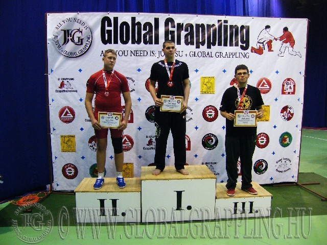 A NoGi Grappling Junior Fiú 95 kg. kategória dobogója
