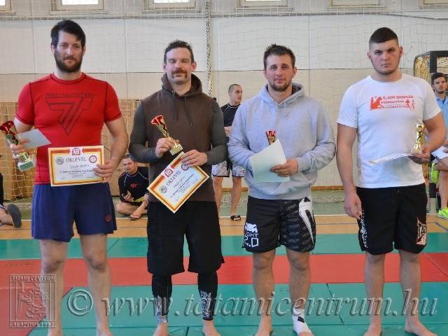 A NoGi Open Férfi 80+ kg kategória helyezettjei