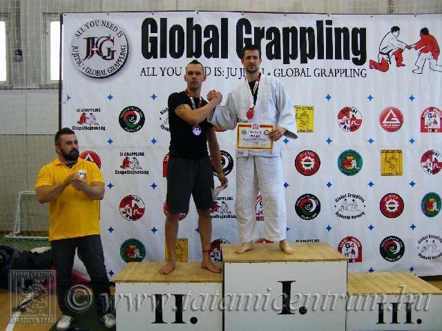 A Gi Grappling Master Férfi 75 kg kategória dobogója